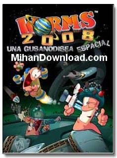 Worms2008%5Bwww.MihanDownload.com%5D بازی جدید موبایل با فرمت جاوا کرم ها worms 2008 java
