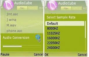 audio cube2%5BMihanDownload.com%5D نرم افزار موبايل نوكيا تبدیل فایل های صوتی با AudioCube v1.1.21 به یکدیگر