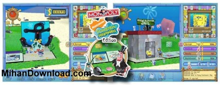 MonopolySpongeBob بازی کامپیوتر   باب اسفنجی  Monopoly Sponge BobS quare PantsEd